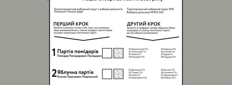 Центральна виборча комісія роз'яснила порядок заповнення виборчого бюлетеня