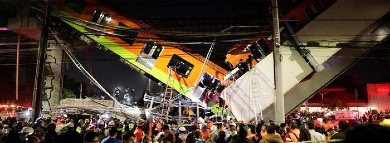 У Мехіко в результаті обвалення моста зійшов з рейок поїзд метрополітену
