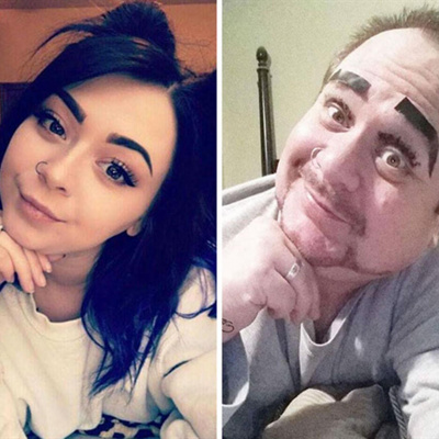 Батько комедіант намагається повторити селфі дочки з соціальних мереж