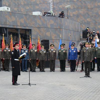 Ліцеїсти Кадетського корпусу імені героїв Молодої гвардії склали присягу на Хортиці