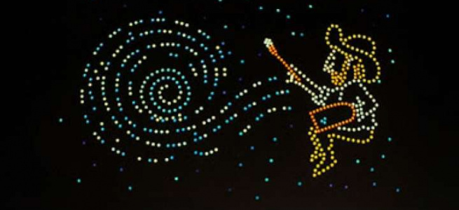 600 дронів створили в небі картини ван Гога: дивовижне дійство