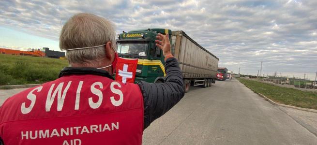 На ТОТ Донецької області відправились 130 вантажівок з гуманітарною допомогою: деталі