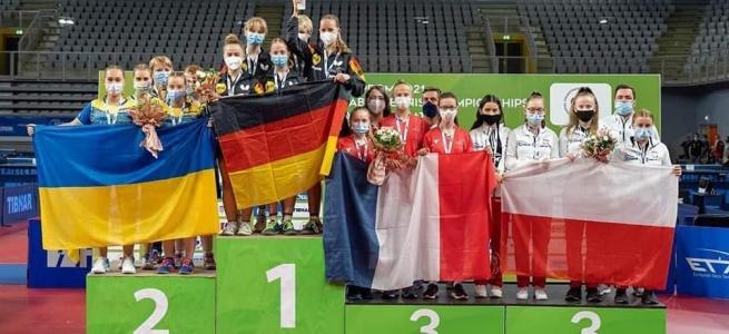 Спортсменки з Луганщини вибороли нагороди юніорської першості Європи з настільного тенісу